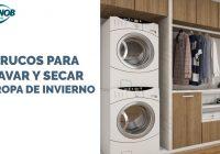 Trucos para lavar y secar la ropa de invierno.
