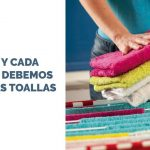 Cómo y cada cuándo lavar toallas.