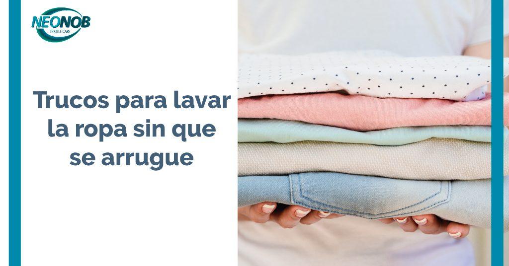 Trucos para lavar la ropa sin que se arrugue